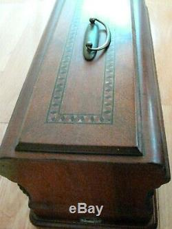 1800s German Hand Crank Sewing Machine with Case Antique Muller LaReina Singer 12k
