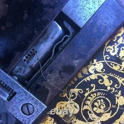 1876 Antique Singer 12k Fiddle base Hand Crank Sewing Machine with Large Roses