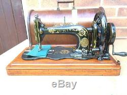 1884 Antique Singer 12k Fiddle base Hand Crank Sewing Machine