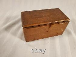 1889 Patent Antique Singer Sewing Machine Folding Wood Puzzle Box with Attachments
