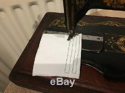 1890 Antique Singer 12k Fiddle base Hand Crank Sewing Machine