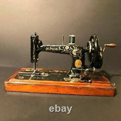 1900 Ottoman Carnation Decorated Antique Singer 48k Sewing Machine Work Complete
