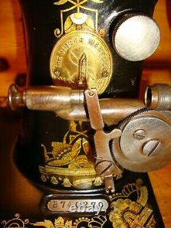 1904 Antique Singer Sewing Machine Head Model 27 Sphinx, Serviced