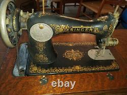 1910 Singer Treadle Sewing Machine with 7 drawer Cabinet Exc. Condition extras