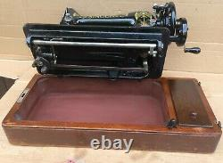 1919 Antique Singer 66, 66K Lotus Decals Hand crank Sewing Machine