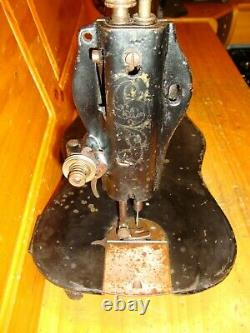 ANTIQUE Industrial SINGER Sewing Machine Head Fiddle Base 1888