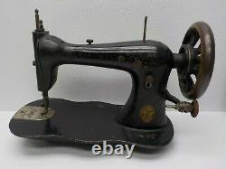 ANTIQUE SINGER Sewing Machine Head Industrial Fiddle Base 1883 # 5558350 Works