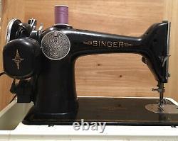 ANTIQUE/VINTAGE SINGER MODEL 201 SEWING MACHINE WithCASE