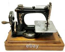 Antigua maquina de coser SINGER 24 con rueda antique rare sewing machine 1909