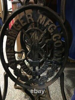 Antique 1879 Singer Treadle Sewing Machine Rare Fiddle VS1 High Arm
