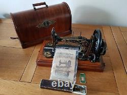 Antique 1887 Singer 12k Sewing Machine Fiddle Base
