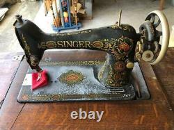 Antique 1900's Singer Treadle 7 Drawer Sewing Machine Oak