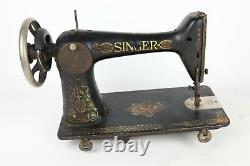 Antique 1911 Singer Red Eye Model 66 Treadle Sewing Machine ONLY Working