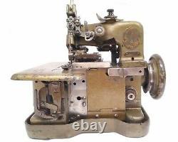 Antique 1925 Very Rare Smallest Singer 81-4 Overlocker Industrial Sewing Machine