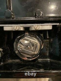 Antique 1940 Singer 221 Scroll Front Featherweight Sewing Machine with Foot Pedal