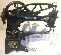 Antique 29k53 Cylinder Arm Leather Patcher Sewing Machine Head Only