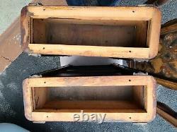 Antique Ornate Tiger Wood Singer Treadle Sewing Machine Drawers/Frames (6)