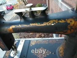 Antique Sewing Machine 1800's singer style light weight treadle