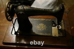 Antique Singer 127 Sphinx Treadle Sewing Machine Model with bench 1920's