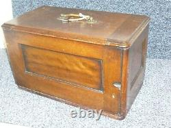 Antique Singer 12k Fiddlebase Hand Sewing Machine 1880 Wooden Case with key