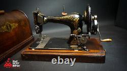 Antique Singer 1893 Sewing Machine With Wooden Case Free Uk Pp