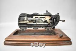 Antique Singer Crank Fiddleback Sewing Machine Tabletop Circa 1880's