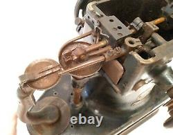 Antique Singer Industrial Fur Gloves Sewing Machine 46k54 Very Rare Working See