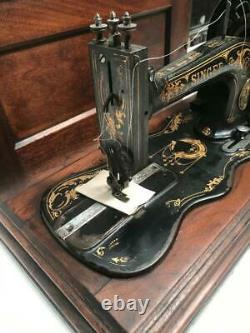 Antique Singer'New Family' 12K Fiddle Base Sewing Machine c1883 7114