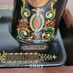 Antique Singer Red Eye No 66 Treadle Sewing Machine Original Cabinet