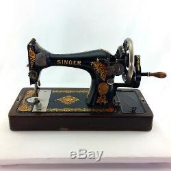 Antique Singer Sewing Machine Model 128 3 La Vencedora Hand Crank Vintage 1923
