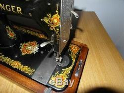 Antique Singer Sewing Machine Model 128k With La Vencedora Decals