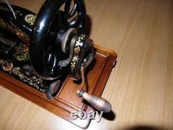 Antique Singer Sewing Machine Model 48k With Ottoman Carnation Decals
