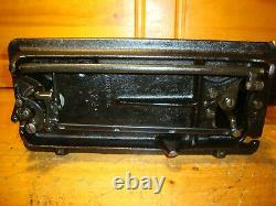 Antique Singer Sewing Machine Model 66-18'godzilla', Hand Crank, Serviced