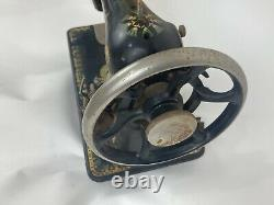 Antique Singer Sewing Machine Model 66 Lotus Decal Pattern Head Only Needs Oil