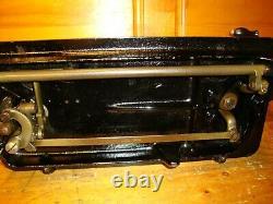 Antique Singer Sewing Machine Model 66k, Hand Crank, Leather, Serviced