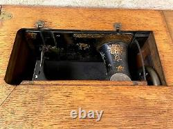 Antique Singer Treadle Sewing Machine in 4 drawer Cabinet-Early 1900's