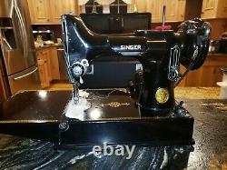Antique portable singer sewing machine