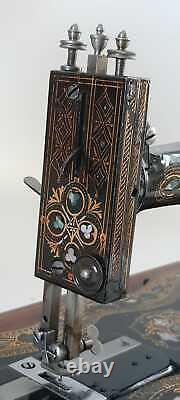 Antique sewing machine SINGER 128 K Mother of Pearl