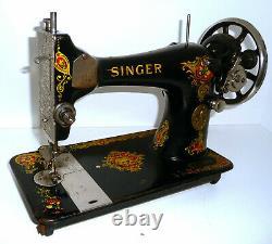 Antique vintage Singer 128K La Vencedora sewing machine vibrating shuttle