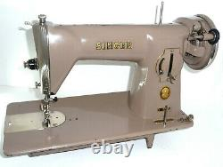 Antique vintage Singer 15B tan sewing machine leather denim canvas 15K 201K