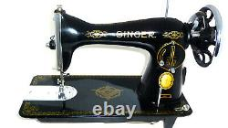 Antique vintage Singer 15K RAF sewing machine leather denim canvas mint RARE