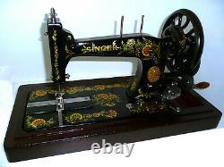 Antique vintage Singer 48K black wheel sewing machine hand crank original rare