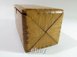 COMPLETE! Singer Sewing Machine 1889 Oak Puzzle Box Restored & Refinished