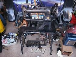EARLY SINGER UFA, 29,29-1 Industrial Leather SEWING MACHINE treadle Boot Patcher