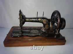 Original unrestored 1897 Singer 12K Ottoman decal Hand Crank sewing machine