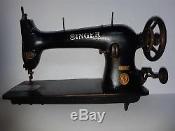 Rare 1924 Industrial Singer sewing machine 31K32 head reversible drop feed