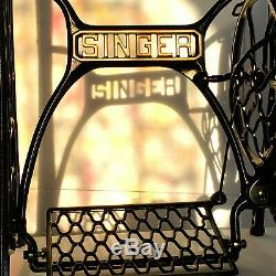 SINGER Sewing Machine Treadle Table Cast Iron Stand Legs Base by 3FTERS