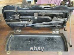 Sewing Machine Antique 1881 Fiddlebase Mother Pearl Inlay Model 12 Treadle Desk