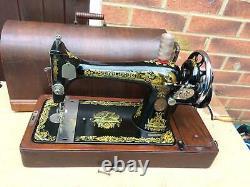 Singer 127K Antique Handcrank sewing machine For LEATHER, CANVAS, SATIN, DENIM