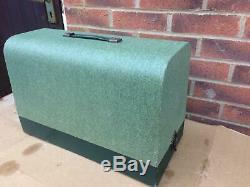 Singer 127K Antique/Vintage Handcrank sewing machine in green case FOR LEATHER
